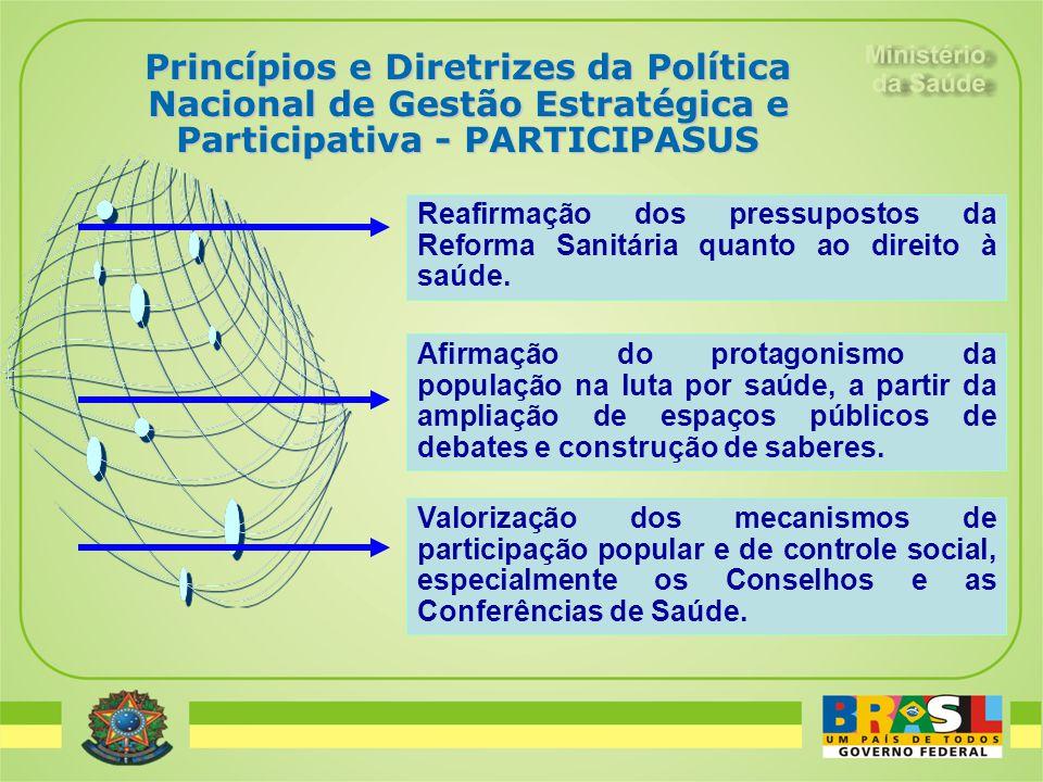 Reafirmação dos pressupostos da Reforma Sanitária quanto ao direito à saúde. Afirmação do protagonismo da população na luta por saúde, a partir da amp