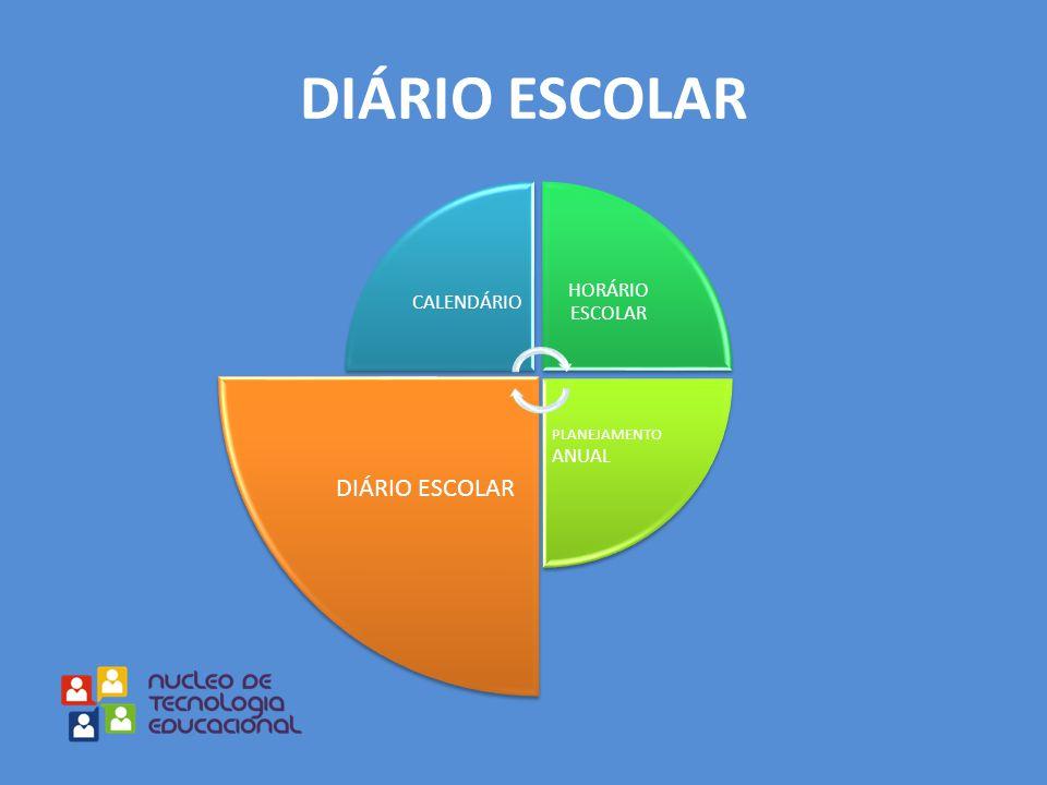 CALENDÁRIO HORÁRIO ESCOLAR PLANEJAMENTO ANUAL DIÁRIO ESCOLAR