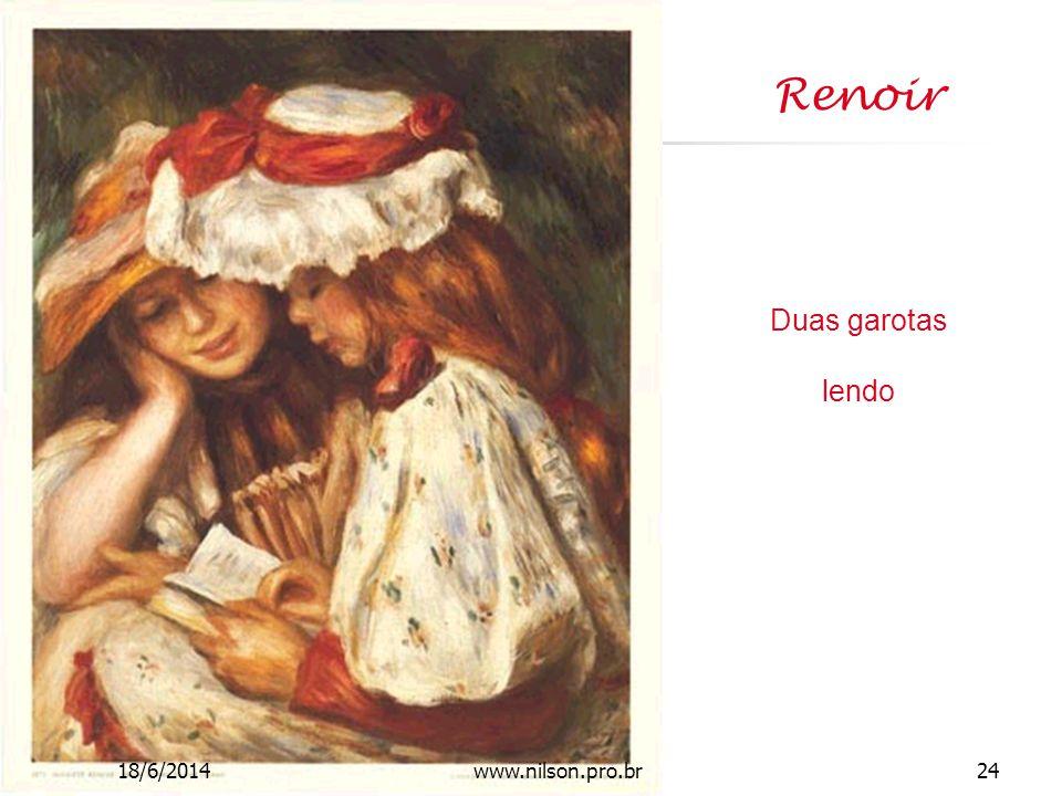 Renoir Duas garotas lendo 18/6/201424www.nilson.pro.br