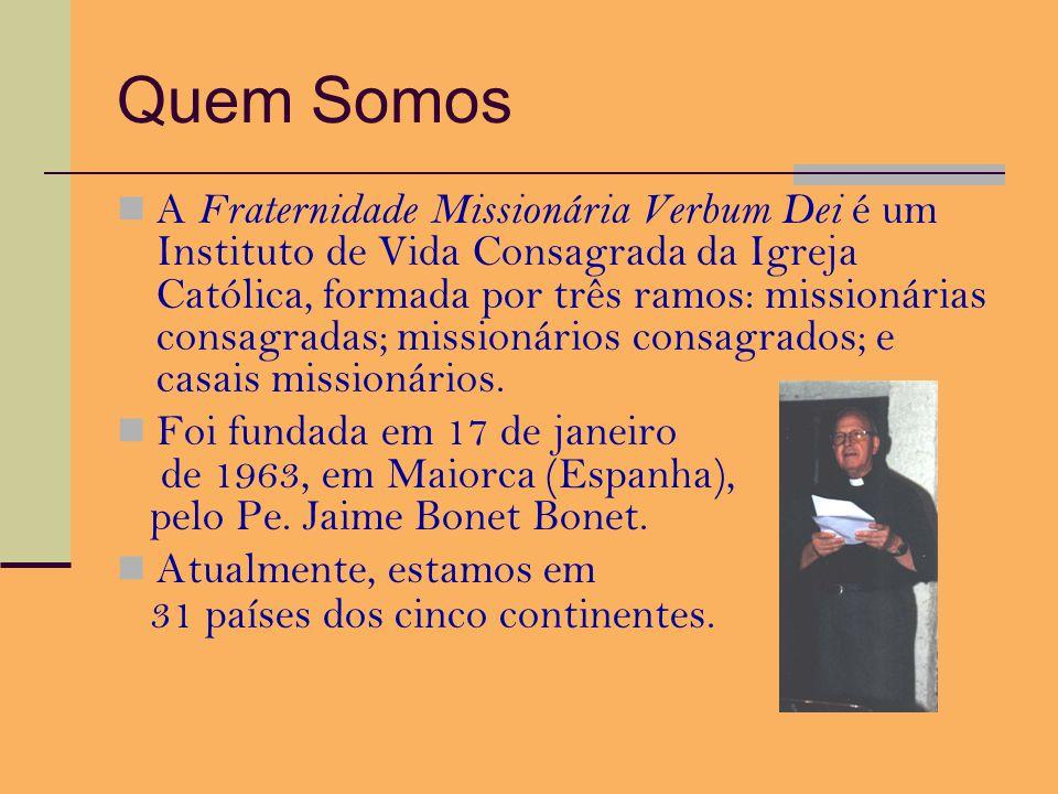 Fraternidade Missionária Verbum Dei Trabalho pastoral na Puc.Minas