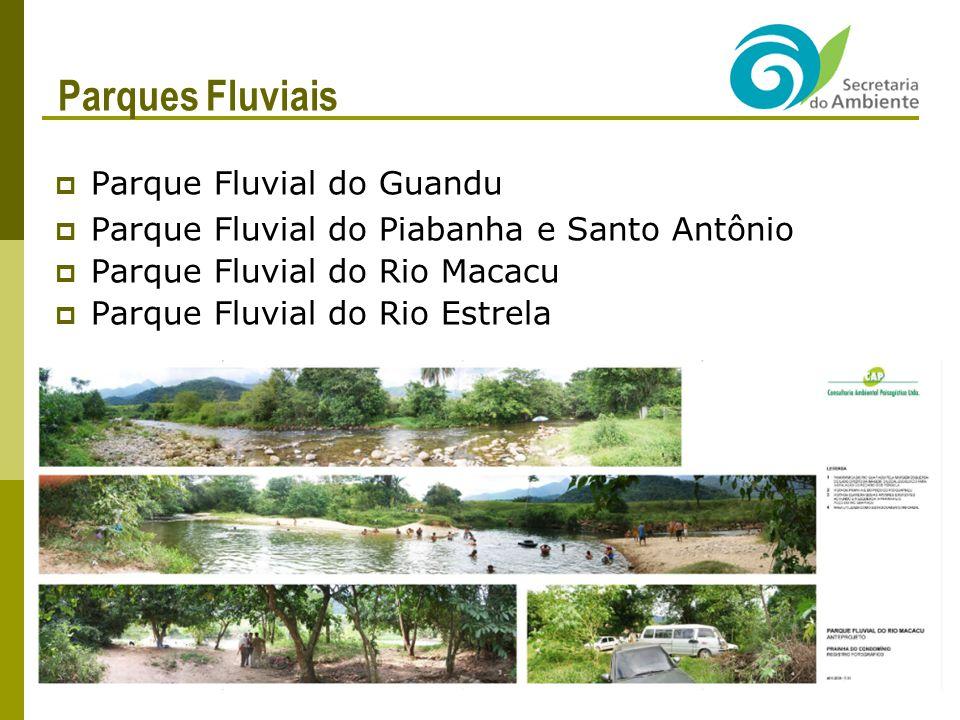 Parques Fluviais Parque Fluvial do Guandu Parque Fluvial do Piabanha e Santo Antônio Parque Fluvial do Rio Macacu Parque Fluvial do Rio Estrela 28