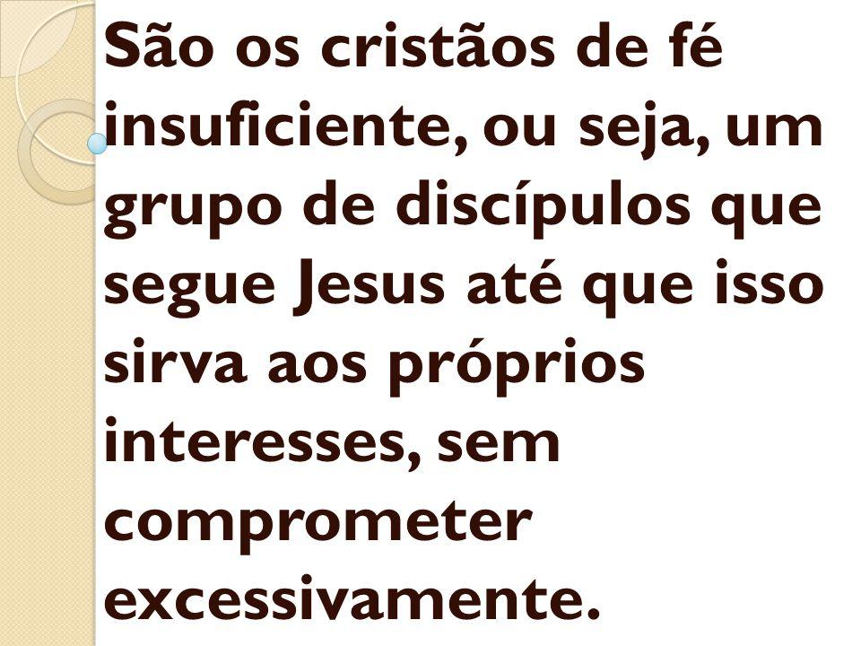 São os cristãos de fé insuficiente, ou seja, um grupo de discípulos que segue Jesus até que isso sirva aos próprios interesses, sem comprometer excess