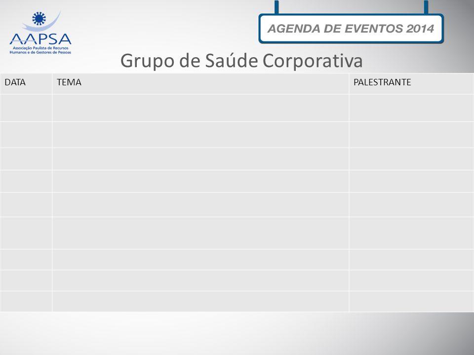 DATATEMAPALESTRANTE Grupo de Saúde Corporativa