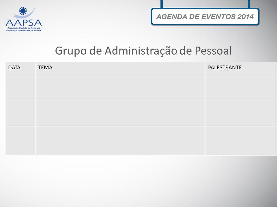 Grupo de Administração de Pessoal DATATEMAPALESTRANTE
