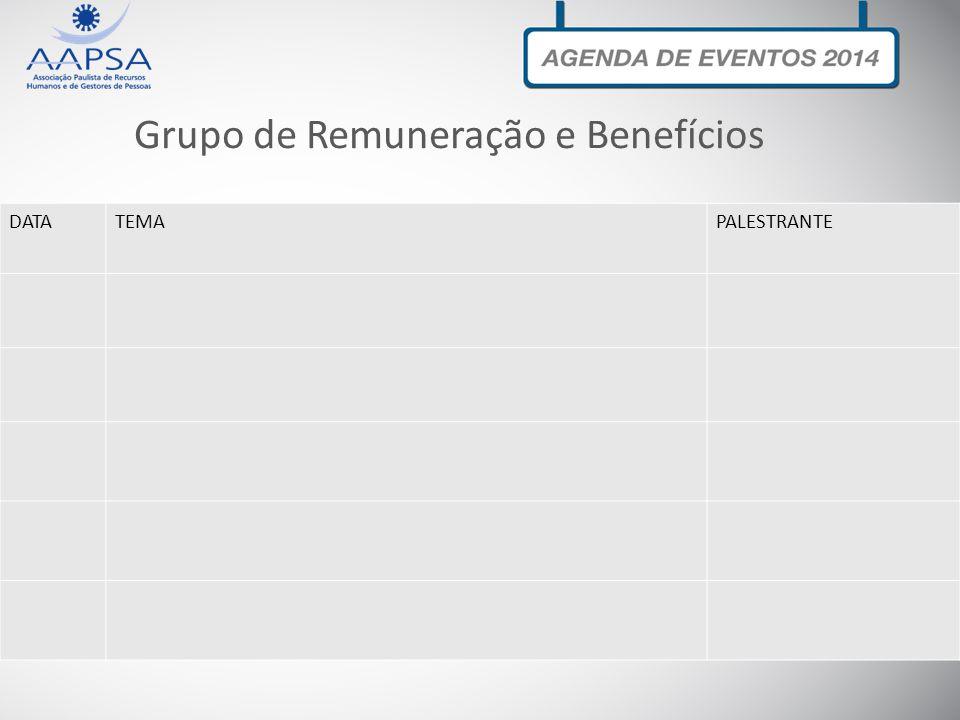 Grupo de Remuneração e Benefícios DATATEMAPALESTRANTE