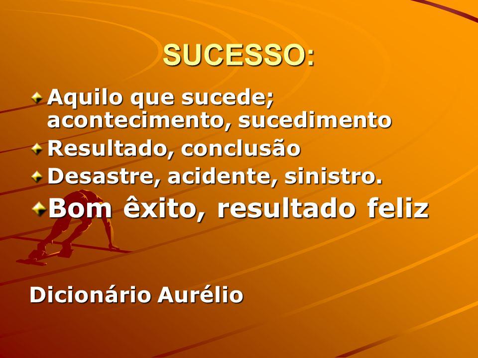 Para pensar...Quem é, para você uma pessoa de sucesso.