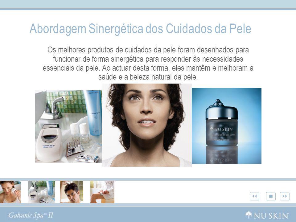 Abordagem Sinergética dos Cuidados da Pele Os melhores produtos de cuidados da pele foram desenhados para funcionar de forma sinergética para responde