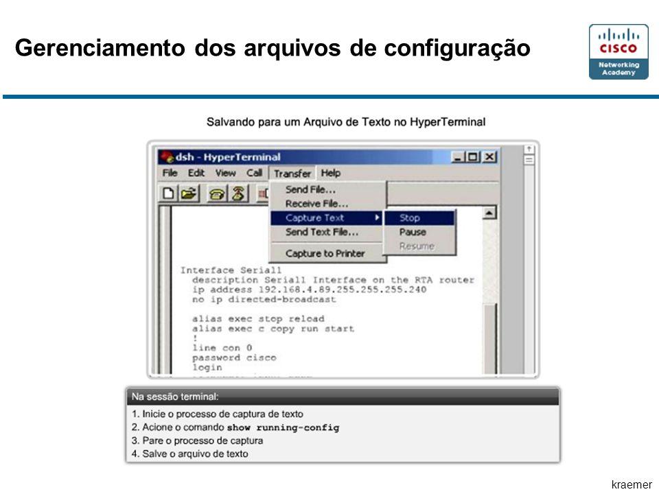 kraemer Gerenciamento dos arquivos de configuração