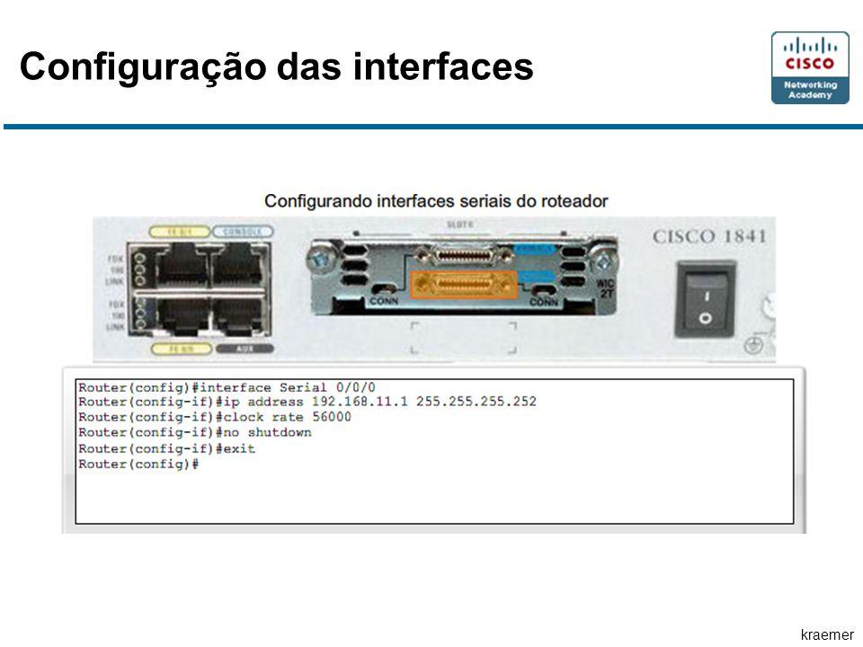 kraemer Configuração das interfaces