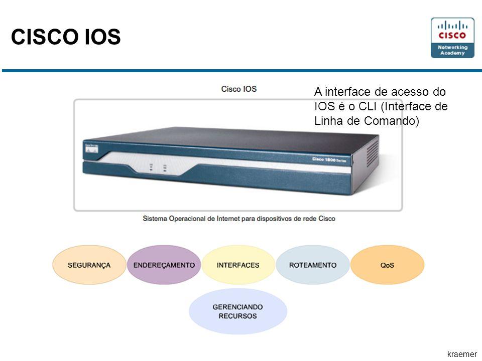 kraemer CISCO IOS A interface de acesso do IOS é o CLI (Interface de Linha de Comando)