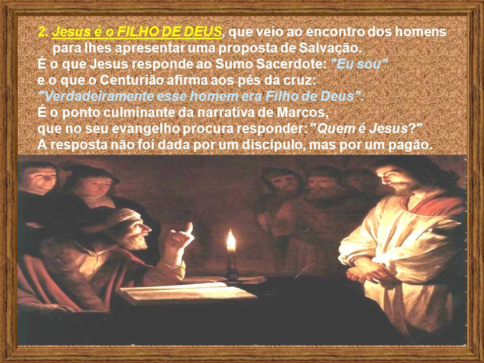 1. Jesus mantém SILÊNCIO solene e digno, aceitando a cruz. Não reage diante do beijo de Judas e ao gesto violento de Pedro. É a atitude de quem sabe q