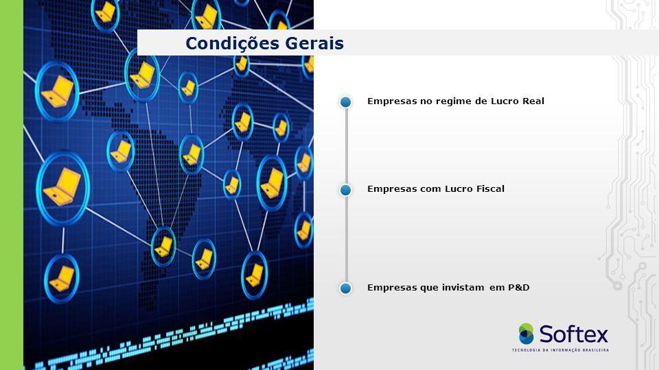 Empresas no regime de Lucro Real Empresas com Lucro Fiscal Empresas que invistam em P&D Condições Gerais