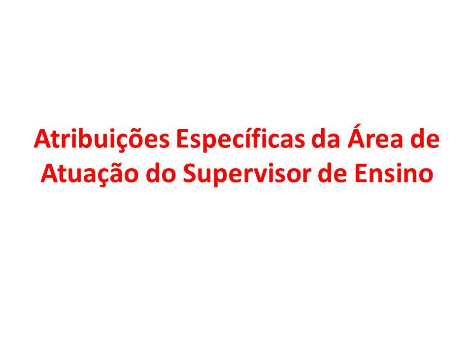 Atribuições Específicas da Área de Atuação do Supervisor de Ensino