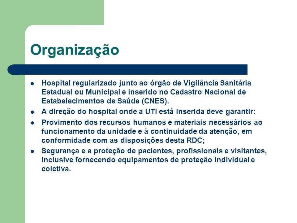 Organização Hospital regularizado junto ao órgão de Vigilância Sanitária Estadual ou Municipal e inserido no Cadastro Nacional de Estabelecimentos de