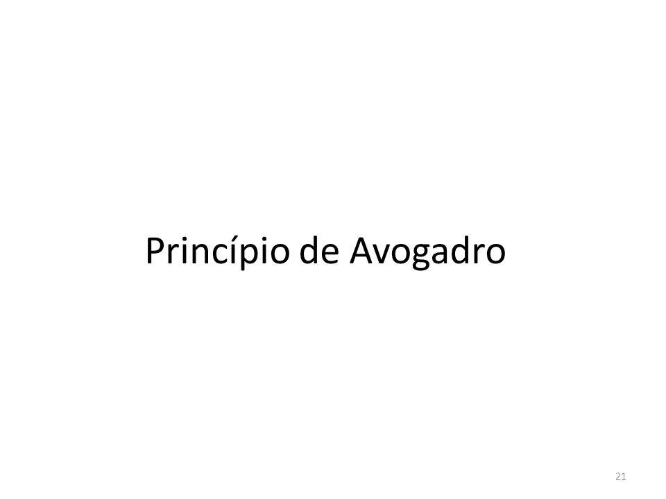 Princípio de Avogadro 21