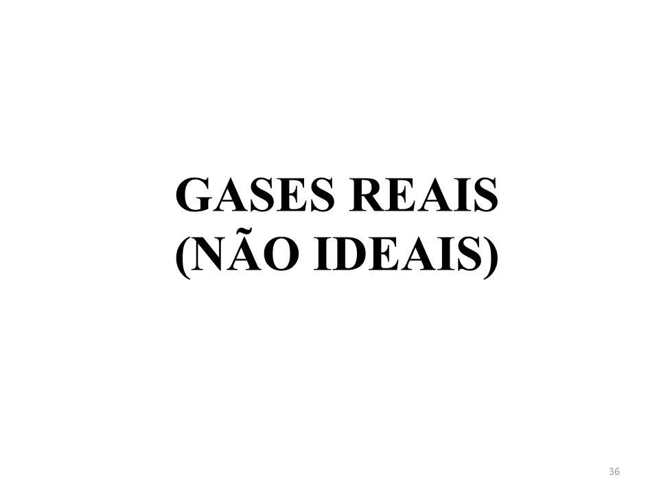 GASES REAIS (NÃO IDEAIS) 36