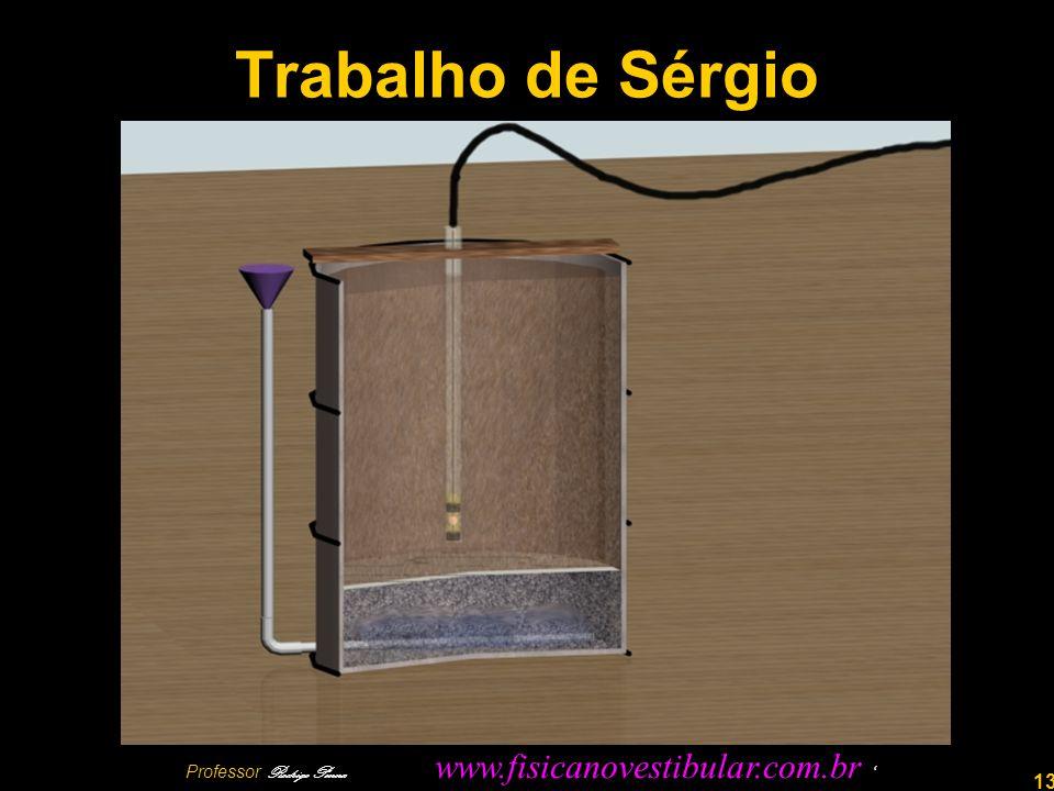 13 Trabalho de Sérgio Professor Rodrigo Penna www.fisicanovestibular.com.br