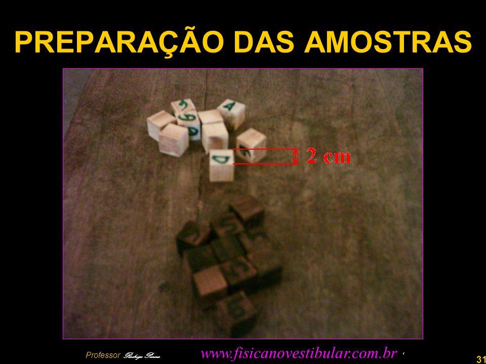 31 PREPARAÇÃO DAS AMOSTRAS Professor Rodrigo Penna www.fisicanovestibular.com.br