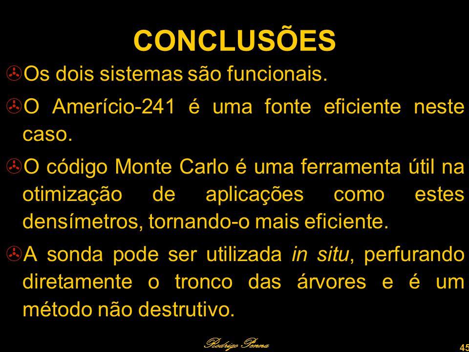 Rodrigo Penna 45 CONCLUSÕES Os dois sistemas são funcionais.