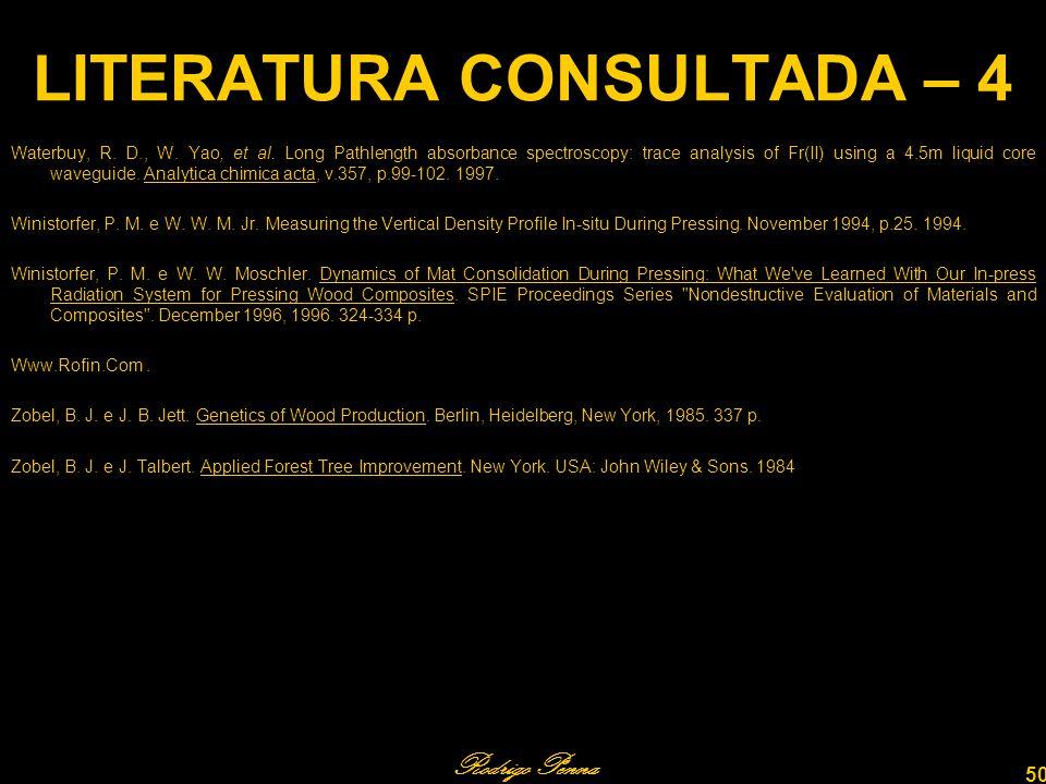 Rodrigo Penna 50 LITERATURA CONSULTADA – 4 Waterbuy, R.