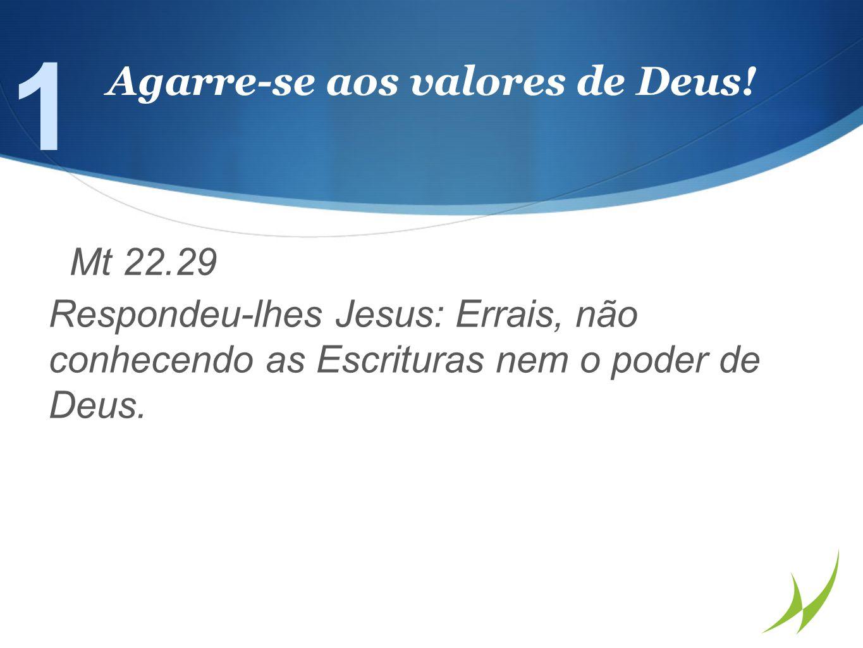Mt 22.29 Respondeu-lhes Jesus: Errais, não conhecendo as Escrituras nem o poder de Deus.