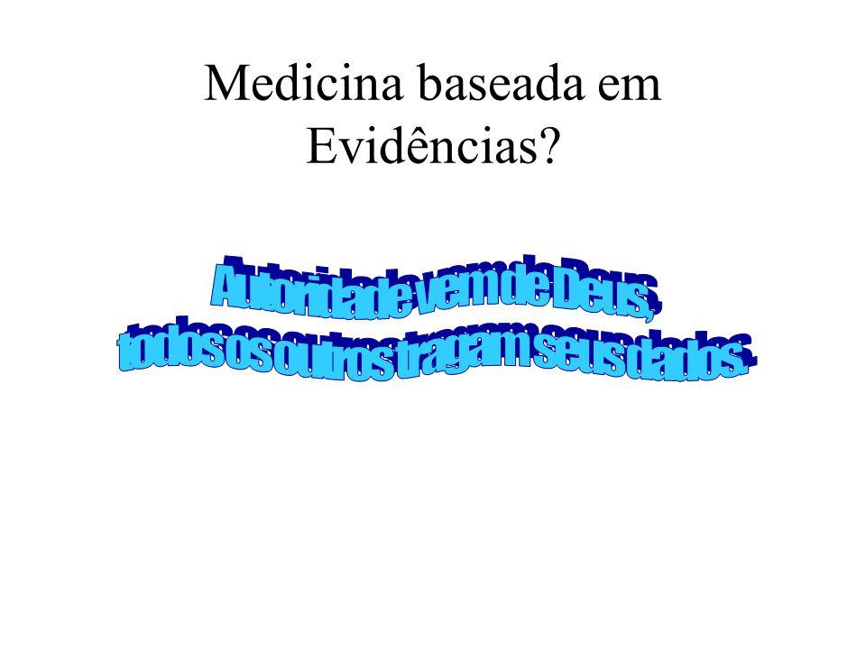 Origens A Medicina baseada em evidências surge da integração de três disciplinas para gerar um suporte à decisão clínica: –Epidemiologia Clínica –Bioestatística –Informática Médica