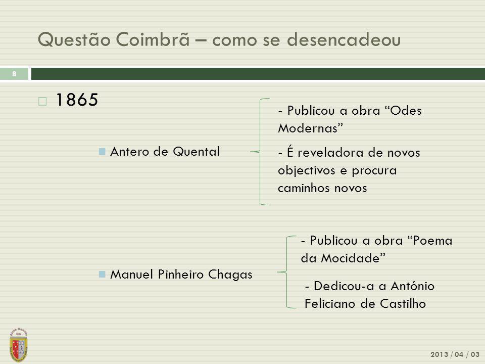 Manuel Pinheiro Chagas - Invocação da Mocidade 2013 / 04 / 03 9 Manuel Pinheiro Chagas (1842-1912) Sonhos da mocidade.