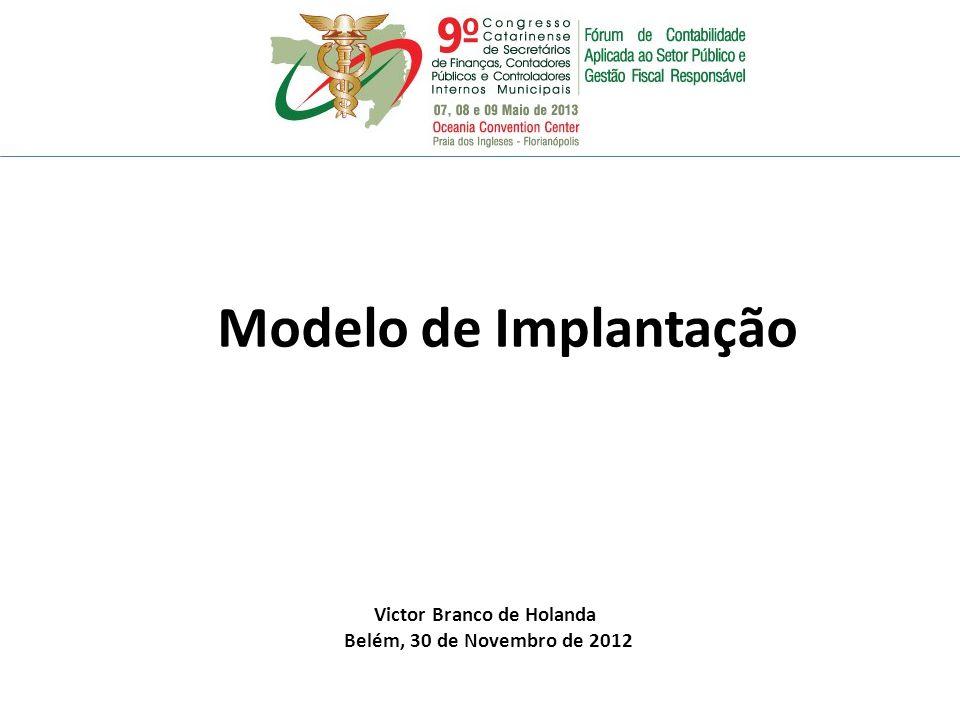Modelo de Implantação Victor Branco de Holanda Belém, 30 de Novembro de 2012