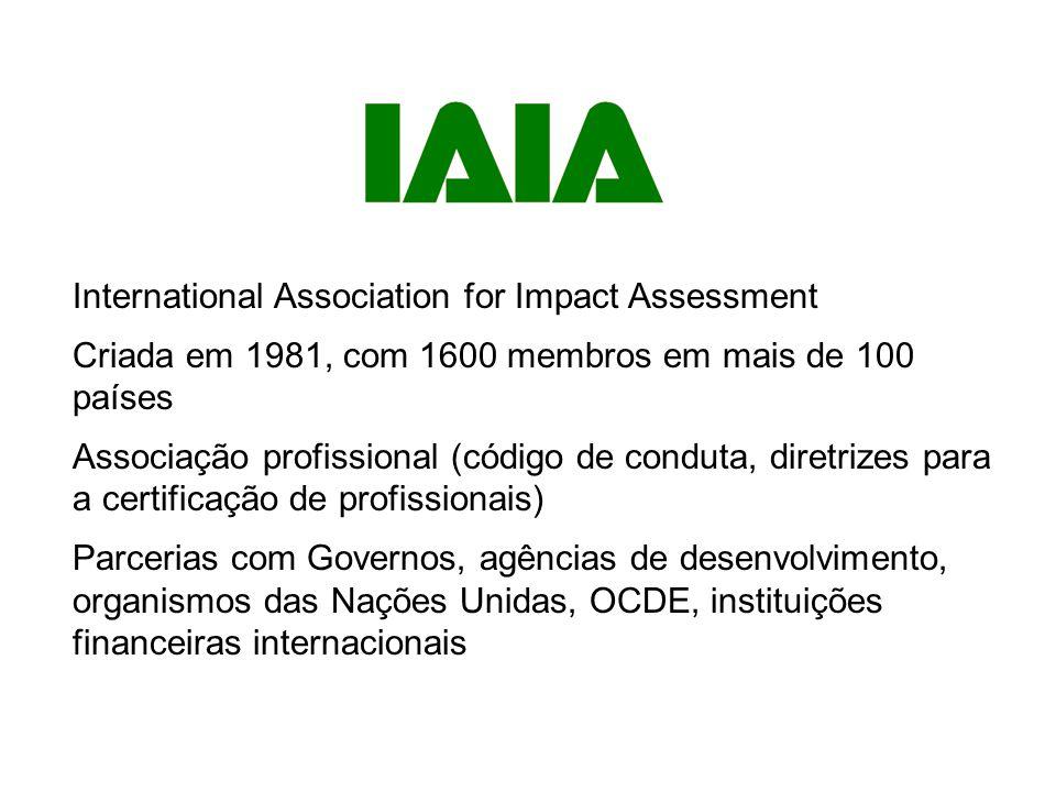 Visão: A IAIA é a principal rede global no que respeita às melhores práticas de utilização da AI para decisões informadas no que respeita a políticas, programas, planos e projetos.