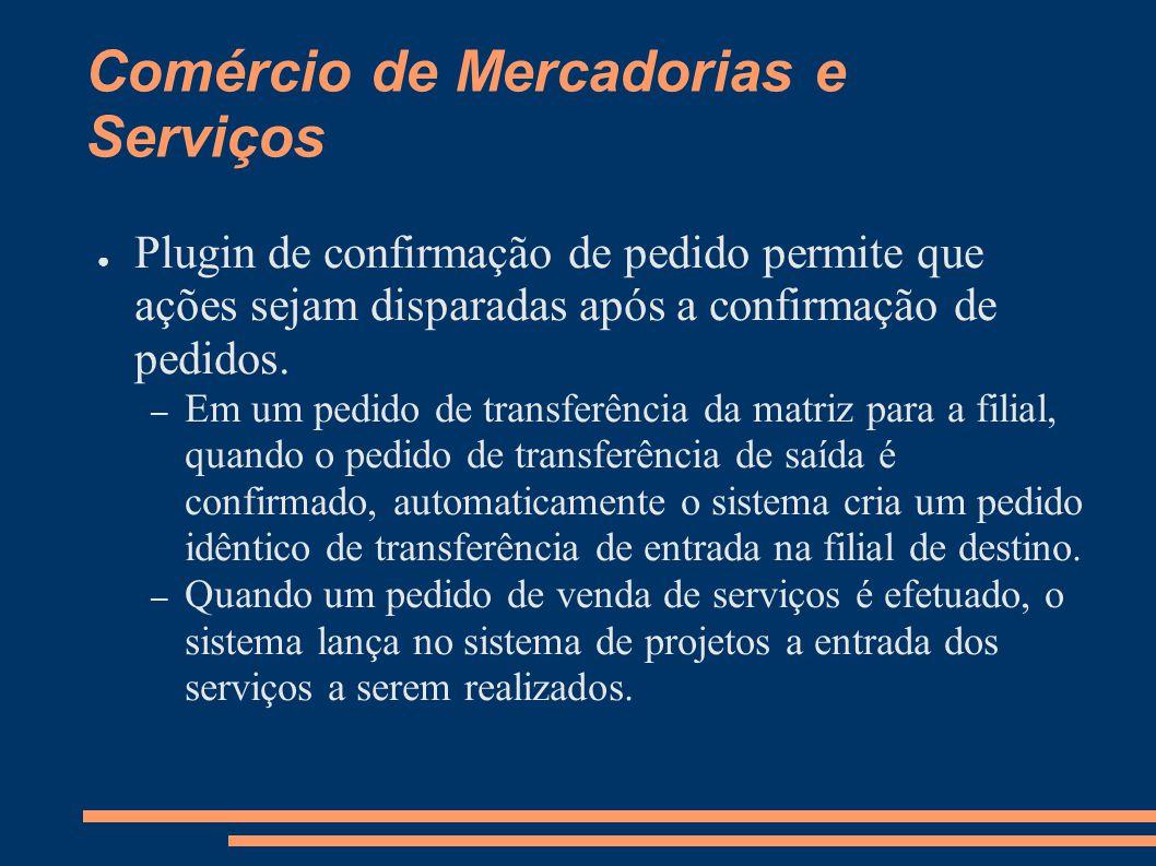 Comércio de Mercadorias e Serviços Plugin de confirmação de pedido permite que ações sejam disparadas após a confirmação de pedidos.