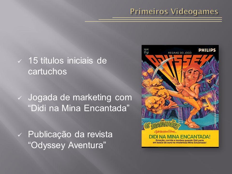 15 títulos iniciais de cartuchos Jogada de marketing com Didi na Mina Encantada Publicação da revista Odyssey Aventura