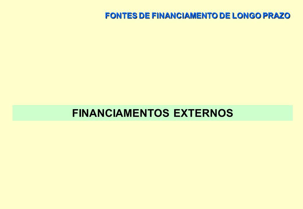 FONTES DE FINANCIAMENTO DE LONGO PRAZO MERCADO FINANCEIRO PRINCIPAIS VARIÁVEIS DE UM CONTRATO DE LEASING > RENOVAÇÃO DE CONTRATO PODE SER PREVISTA A R