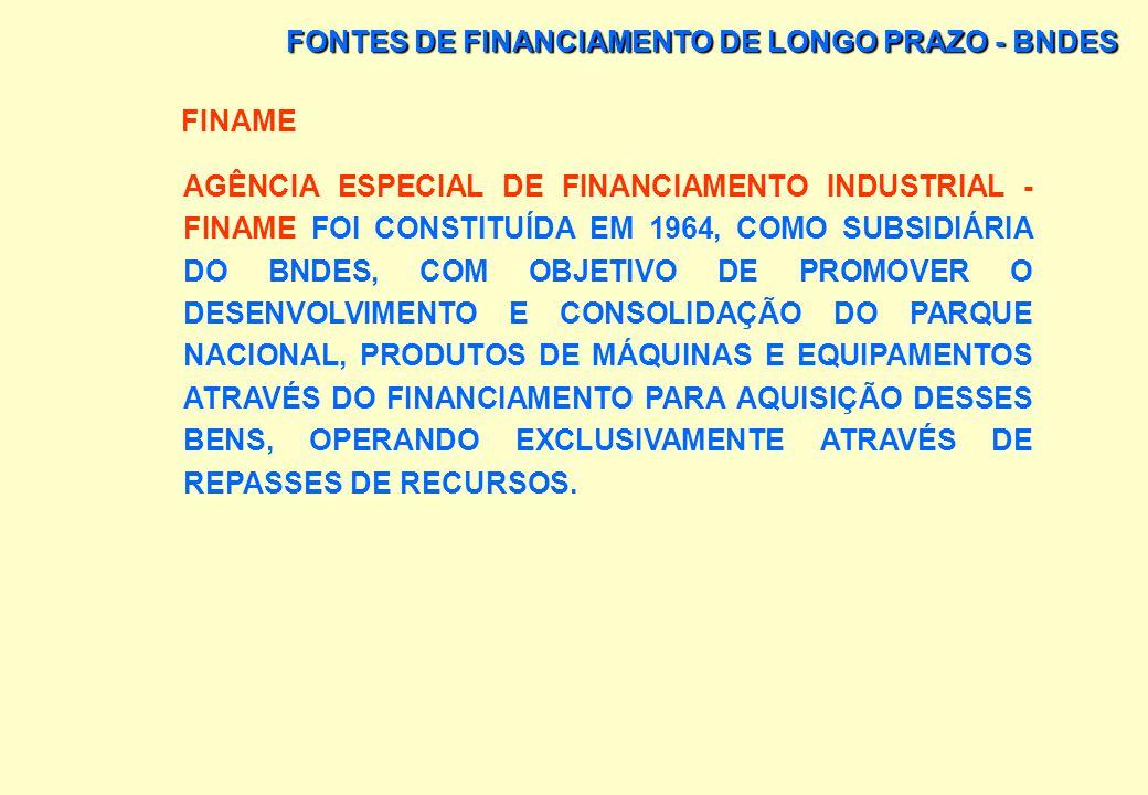 FONTES DE FINANCIAMENTO DE LONGO PRAZO - BNDES BNDESPAR TEM POR FILOSOFIA ALIENAR SUA PARTICIPAÇÃO ACIONÁRIA NA EMPRESA, UMA VEZ ALCANÇADA A MATURIDAD