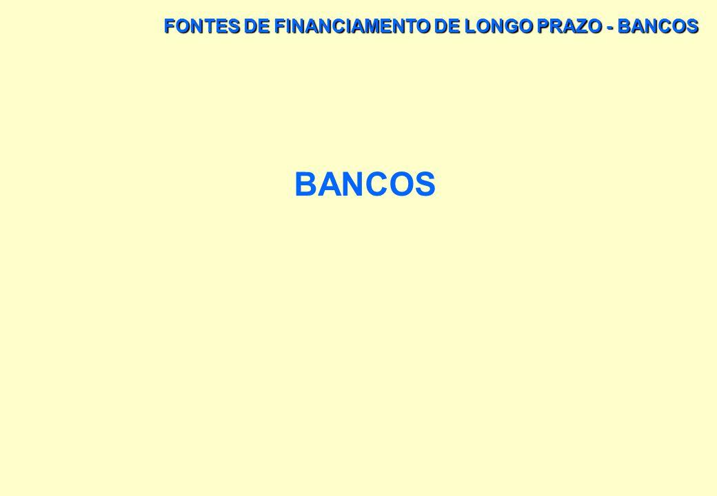 FONTES DE FINANCIAMENTO DE LONGO PRAZO - BNDES FLUXO DAS OPERAÇÕES DE ACORDO COM A ANÁLISE DE RISCO, PODEM APROVAR A OPERAÇÃO CONFORME A SOLICITAÇÃO D