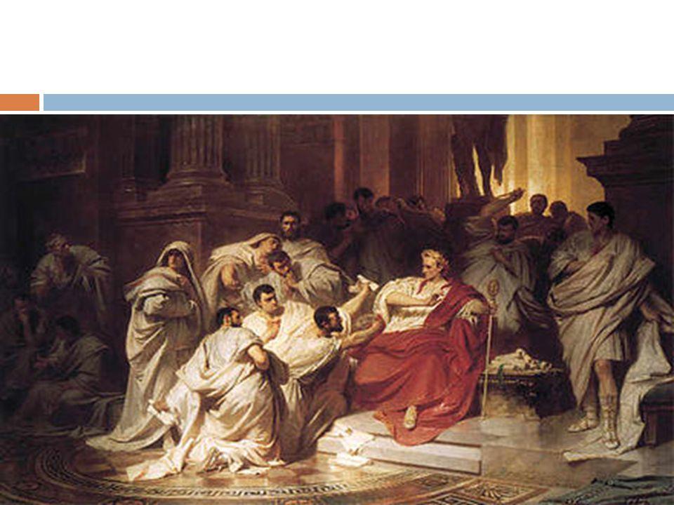 O segundo Triunvirato O levante popular que se seguiu à morte de César e, principalmente, o controle das guarnições de Roma permitiram a seus partidários neutralizar o Senado; Em 43 a.C Marco Antônio, general Lépido e Otávio, implantaram o Triunvirato.