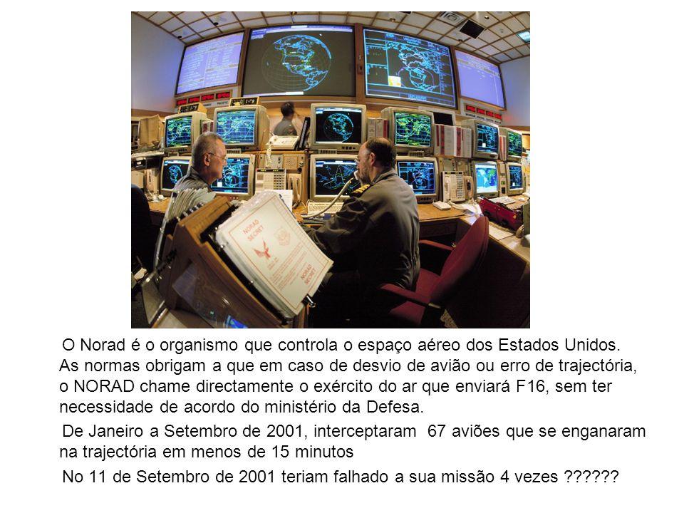 O Norad é o organismo que controla o espaço aéreo dos Estados Unidos.