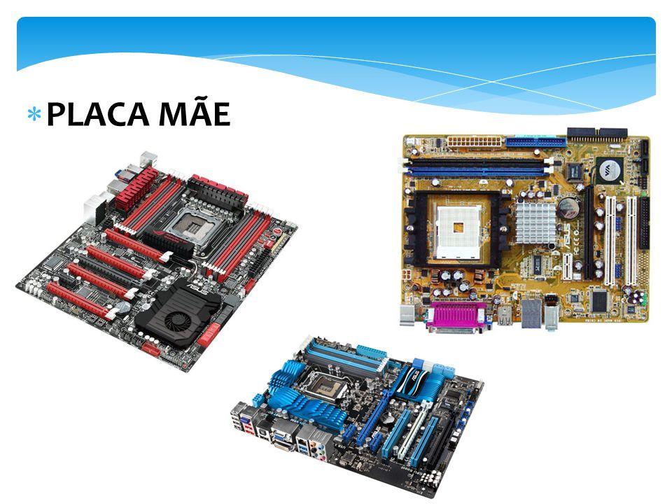 Na placa-mãe instalamos o processador, que basicamente define o modelo de PC que você tem, além de placas diversas, como a placa de vídeo.