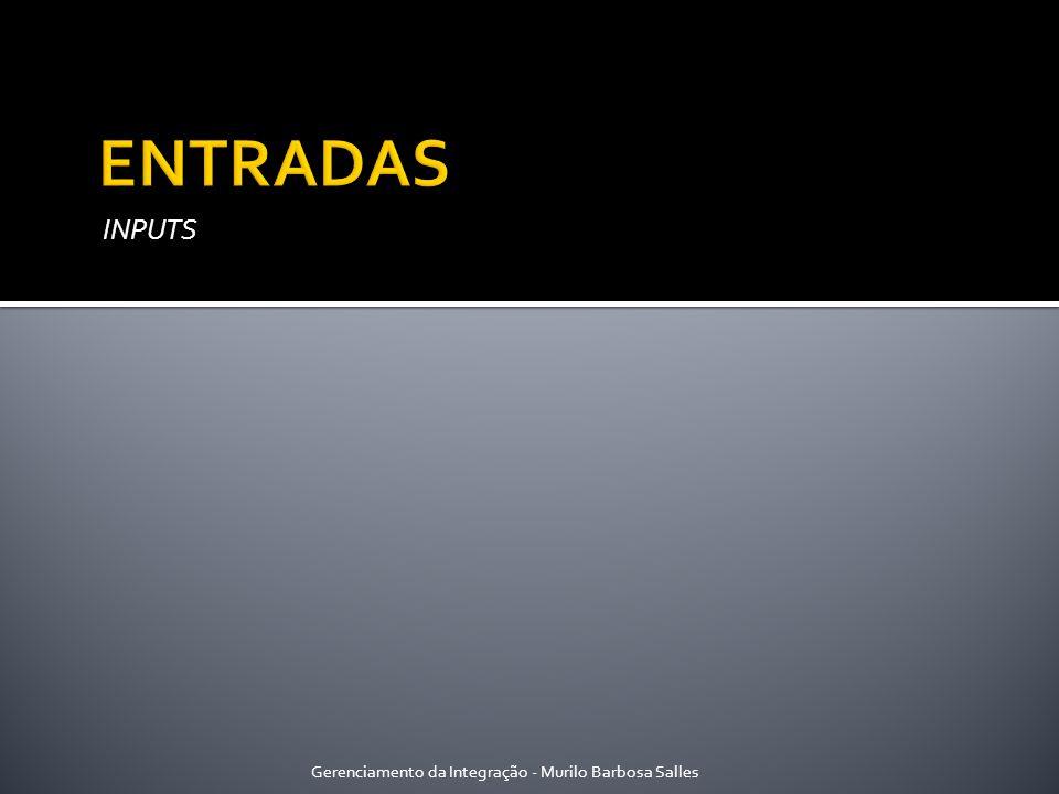 INPUTS Gerenciamento da Integração - Murilo Barbosa Salles