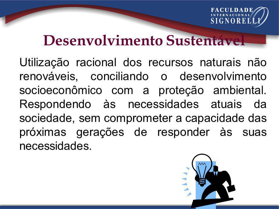Utilização racional dos recursos naturais não renováveis, conciliando o desenvolvimento socioeconômico com a proteção ambiental. Respondendo às necess