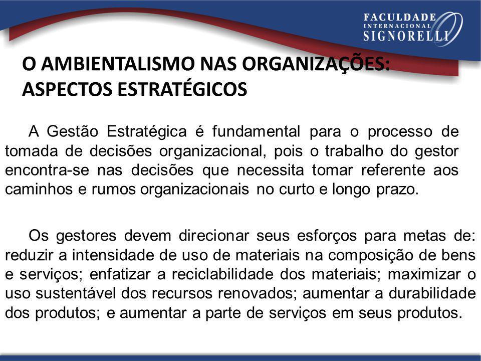 A Gestão Estratégica é fundamental para o processo de tomada de decisões organizacional, pois o trabalho do gestor encontra-se nas decisões que necess