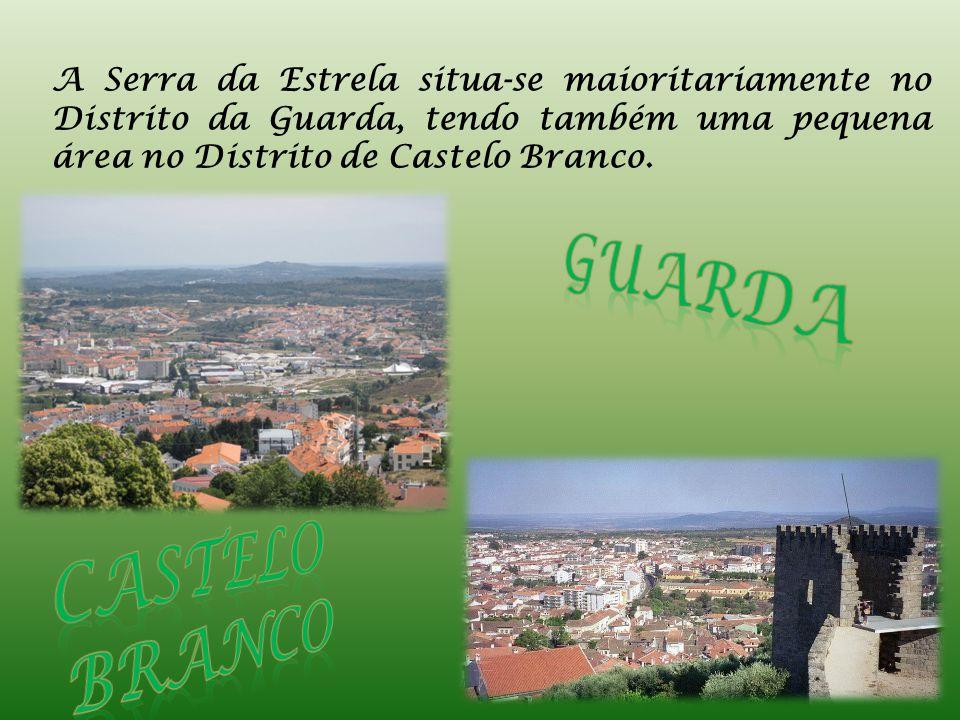 A Serra da Estrela situa-se maioritariamente no Distrito da Guarda, tendo também uma pequena área no Distrito de Castelo Branco.