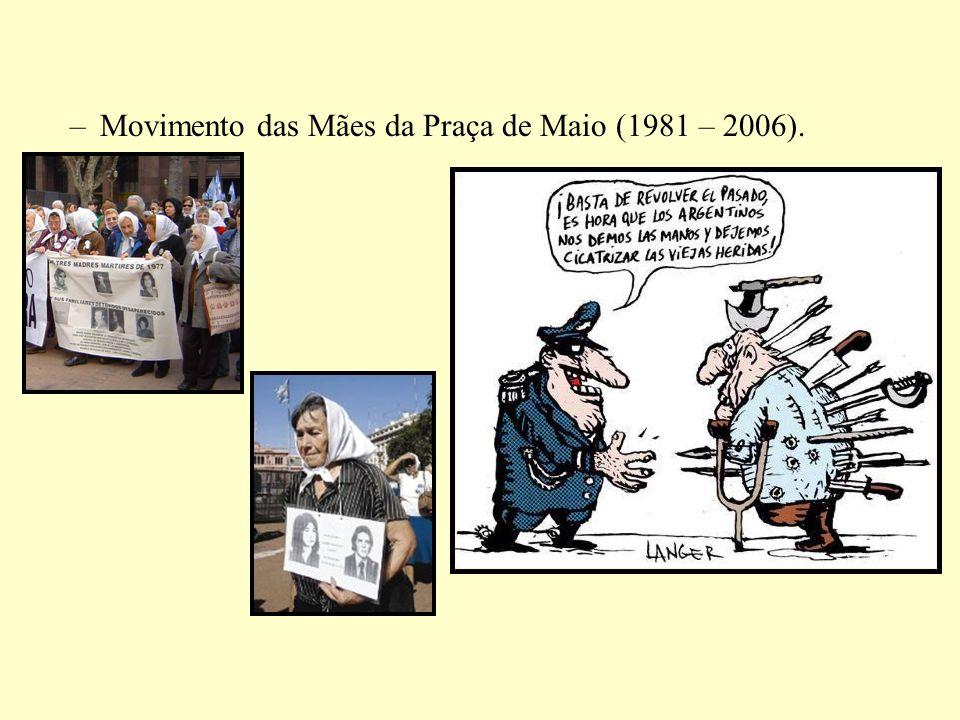 –Movimento das Mães da Praça de Maio (1981 – 2006).