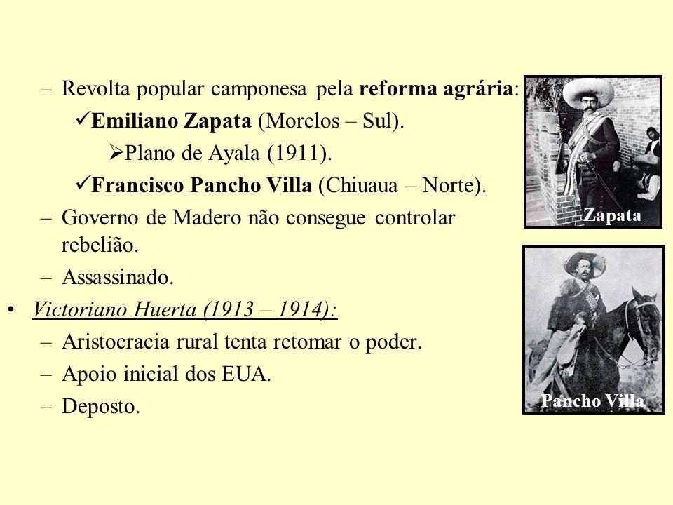 A Operação Condor (1975): –Operação conjunta de órgãos de repressão dos governos militares do CHI, BRA, ARG, BOL, PAR e URU.