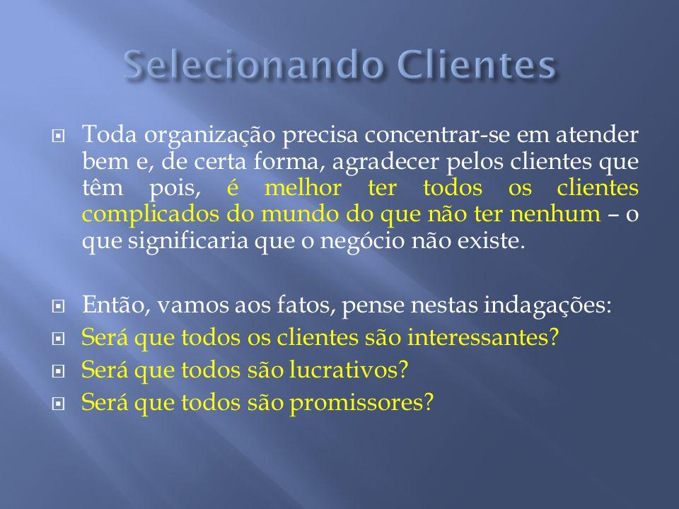 Toda organização precisa concentrar-se em atender bem e, de certa forma, agradecer pelos clientes que têm pois, é melhor ter todos os clientes complic