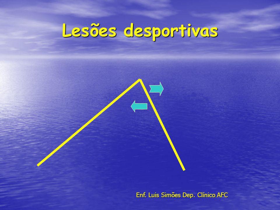 Lesões desportivas Enf. Luis Simões Dep. Clínico AFC