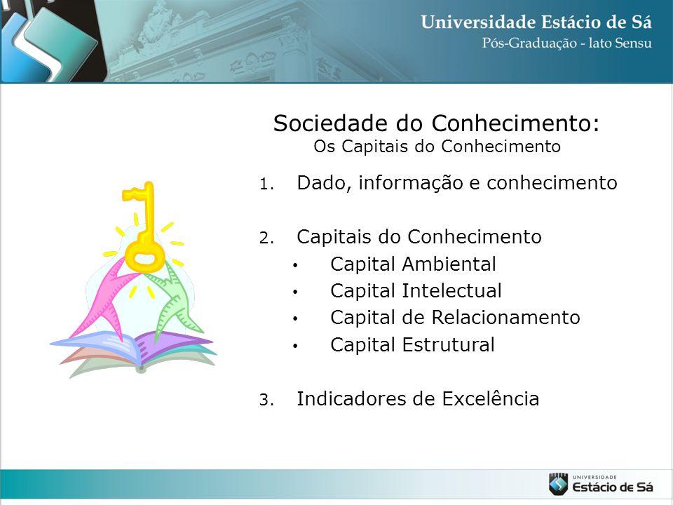Sociedade do Conhecimento: Os Capitais do Conhecimento 1.