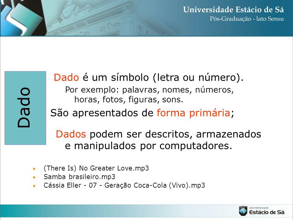 Dado (There Is) No Greater Love.mp3 Samba brasileiro.mp3 Cássia Eller - 07 - Geração Coca-Cola (Vivo).mp3 Dado é um símbolo (letra ou número).