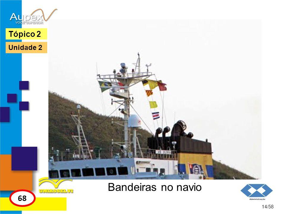 Bandeiras no navio 14/58 Tópico 2 68 Unidade 2
