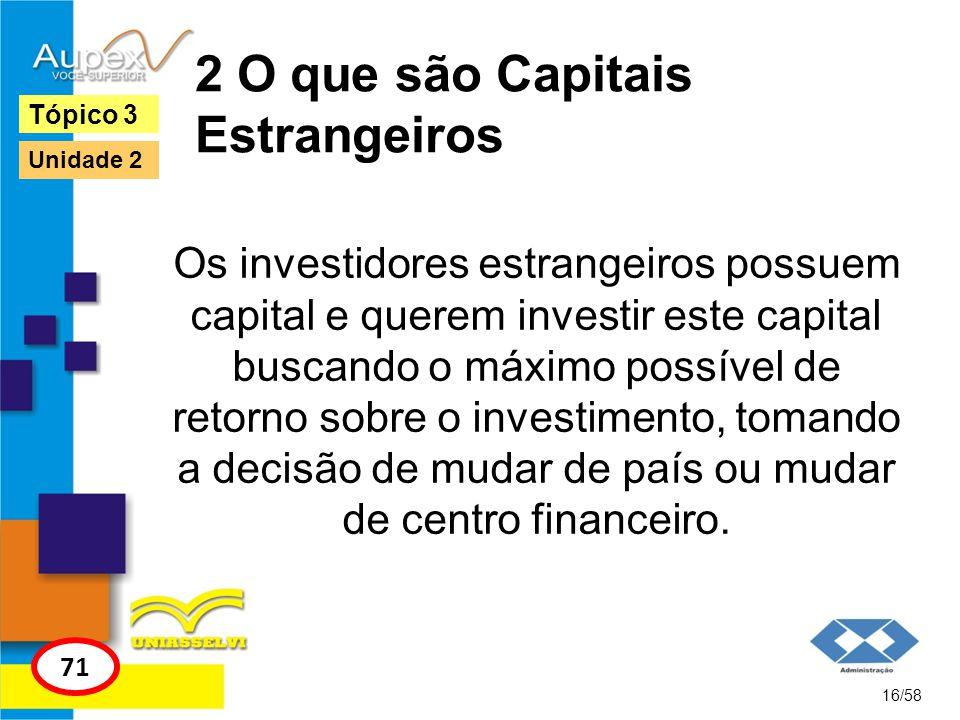 2 O que são Capitais Estrangeiros Os investidores estrangeiros possuem capital e querem investir este capital buscando o máximo possível de retorno so