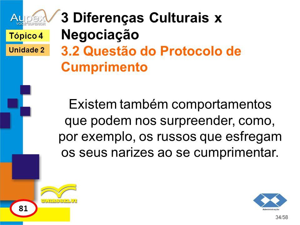 3 Diferenças Culturais x Negociação 3.2 Questão do Protocolo de Cumprimento Existem também comportamentos que podem nos surpreender, como, por exemplo